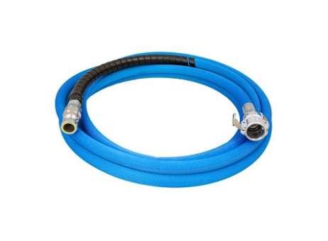 Mörtelschlauch SUPER LIGHT, blau LW25, V-Teil drehbar, versch. Längen