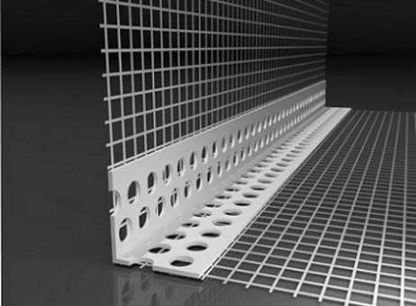 PVC-Gewebe-Eckwinkel 8 x 12 cm PREMIUM f. WDVS, 2 m,  1 Bund (100 m)