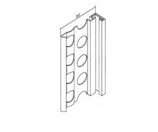 Putzabschlußprofil Aussen 1261,  14 mm, 2,50 mtr. 3er-Set
