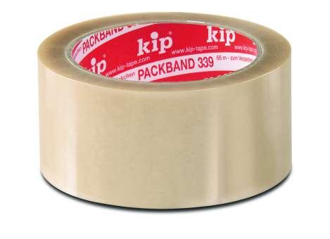 "KARTON PP-Packband ""KIP-PREMIUM"" 339-71 Standard-Qualität 66m, transparent (1Kt.=36 Ro.)"