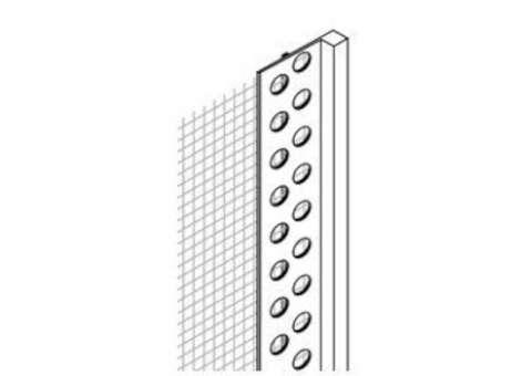 PVC - Abschlussprofil mit WDVS-Gewebe, 200 cm, 50 lfm