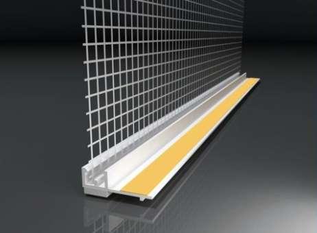 Anputzleiste mit Glasgewebe, Farbe: weiß, Länge: 2,4 m