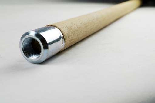 Stiel für Egalisette / Egaline 1,3 m, aus Holz, mit Innengewinde