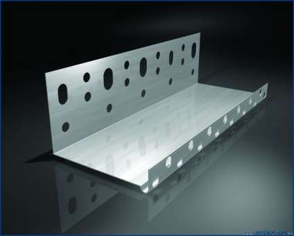 Sockelprofil für WDVS aus Aluminium, 2,5 m lang