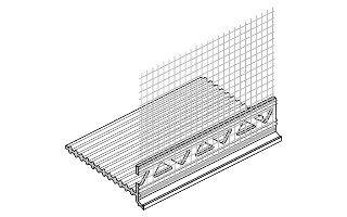 Sockelkantenprofil für WDVS, 6 mm, 30 lfm