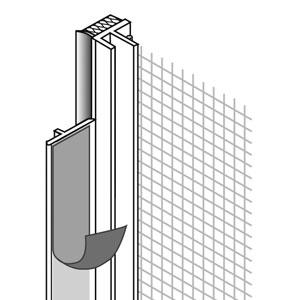 Anputzleiste 2,40m m.Gewebe u.Schutzlippe