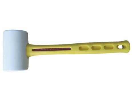 Gummihammer Spezial mit Kunststoffstiel