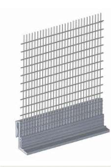 PVC - Einhängeprofil für WDVS - Sockelprofile mit Gewebe, 250 cm,