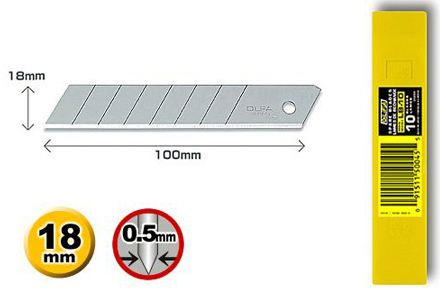 OLFA Ersatzklingen 18 mm für Cuttermesser