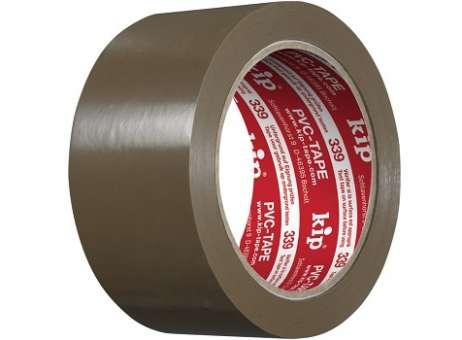 PVC-Packband KIP 339-20, 50mm Braun (1 Kt.=36 Ro)