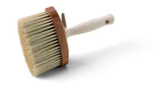 Sockelbürste ARON BASE mit ovalem Holzkörper 135 x 55 mm