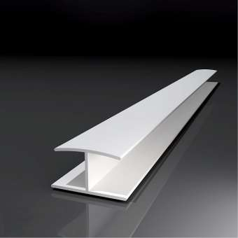 Verbindungsprofil H, PVC,  2,50 mtr. lang