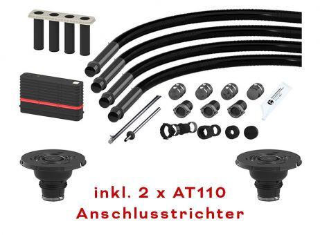 Hauff Mehrspartenhauseinführung Basic FUBO-BHP-3 m, für Gebäude o. Keller, m. Gas, inkl. 2 Anschlusstrichter AT110