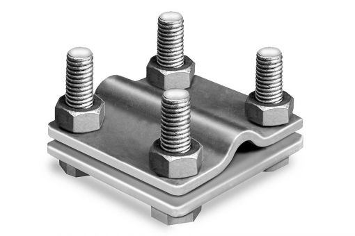 Kreuzverbinder verzinkt, 2-teilig, flach/rund