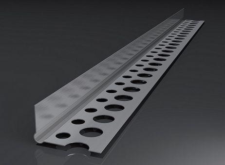 Alu-Abschlussprofil, Trockenbauprofil 2,50 mtr. Putzstärke: 1 mm, 1 BUND (250 mtr)