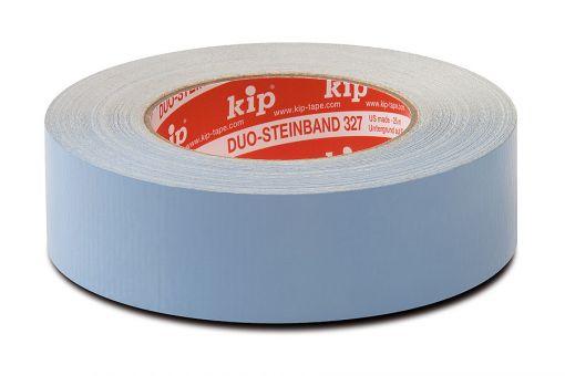 327 Duo-Steinband blau, doppelseitig klebend  38 mm, 25 m