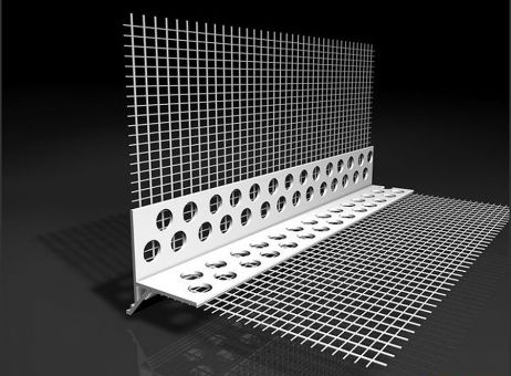 Tropfkantenprofil mit Glasgewebe
