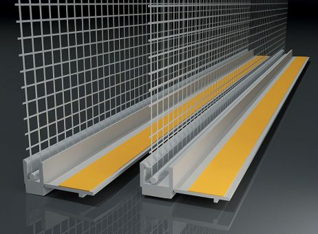 Anputzleiste mit Glasgewebe | hellgrau | 2,4 m |