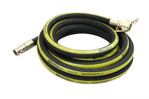 SEMPERIT Mörteldruckschlauch stockbig® schwarz NW 25 mit drehbarer Kupplung