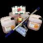 Maler / Verputzer Premium-Set mit Betonkontakt Premium / Betokontakt / Betongrund / Haftbrücke und Malerzubehör