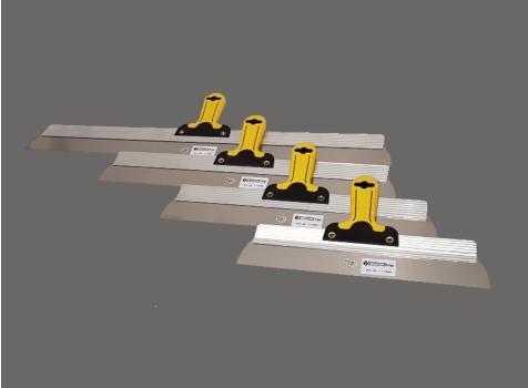 Flächenspachtel Blattstärke 0,6mm, rostfrei, mit Softgriff, verschiedene Ausführungen