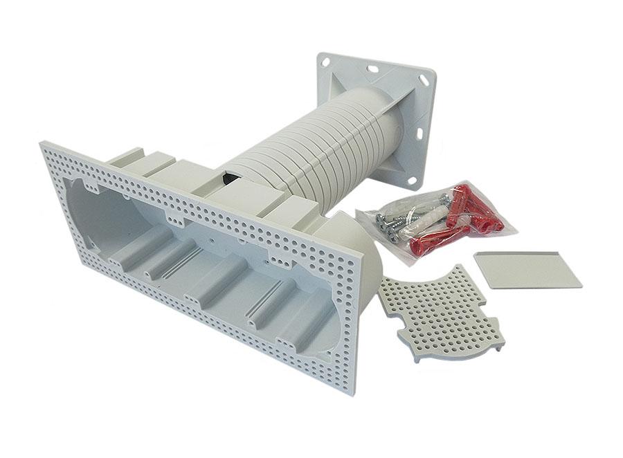 Elektroinstallationsdose für WDVS vielfach