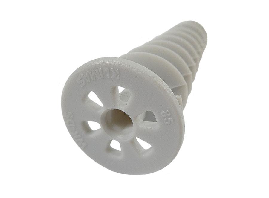 Dämmstoffdübel zur Montage von Anbauteilen 85 mm Kunststoff Schneckendübel, Spiraldübel VPE: 10 St.
