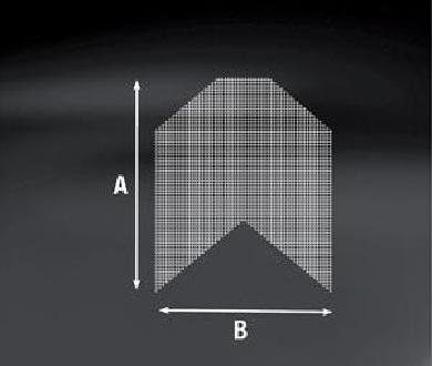Diagonal Armierungsstreifen 33 x 65 cm VE: 150 Stück