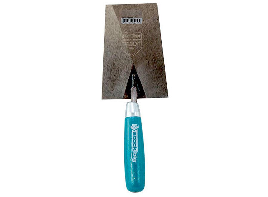 Maurerkelle, S-Hals, 160 mm, Stahl, mit Holzgriff