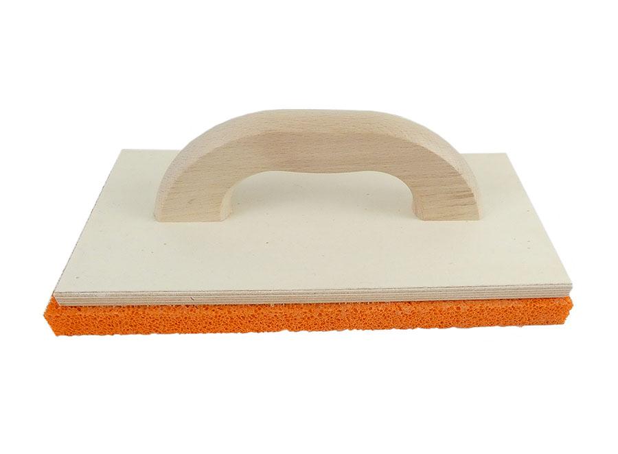Holz-Reibebrett mit Schwammgummi-Belag