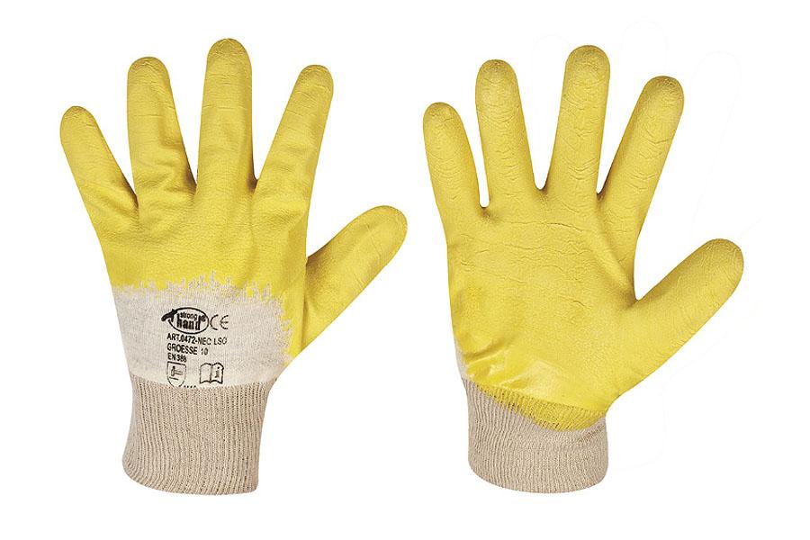Handschuhe Latex mit Strickbund