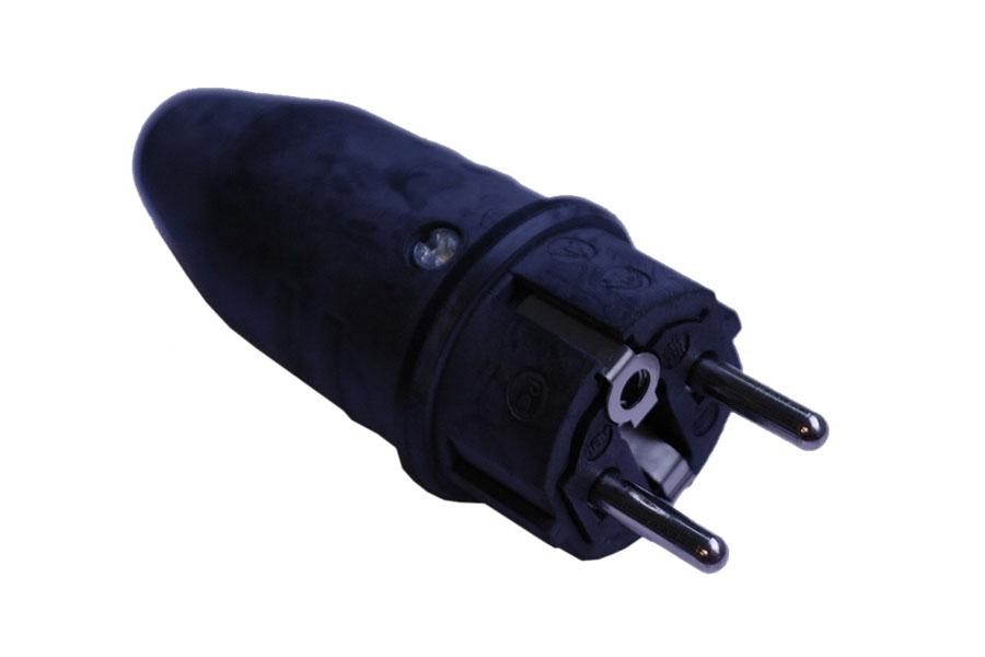 Gummi-Stecker, Schuko, 230V