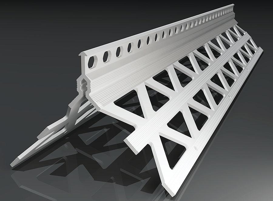 Kantenprofil Innen- und Außenbereich 10mm / 43x43mm / 2,5m