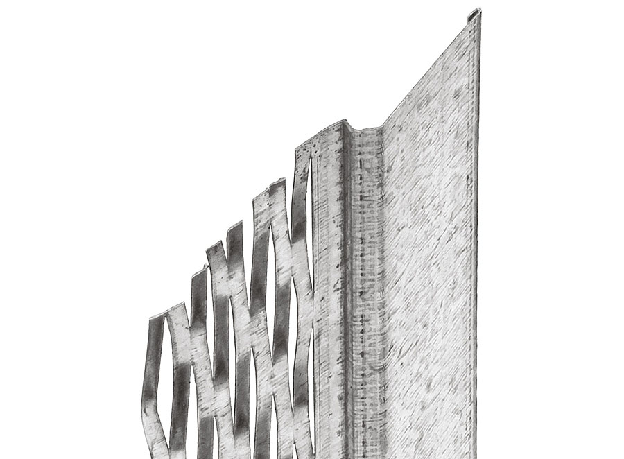 Dehnfugenprofil 7000, Innen-/Außenputz, 14 mm, 250 cm (1 Bd à 25 Stb)