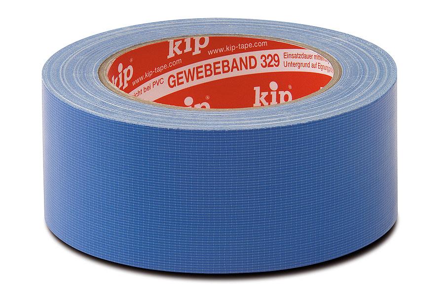 KIP 329  Gewebeklebeband, blau, 25 m, diverse Breiten