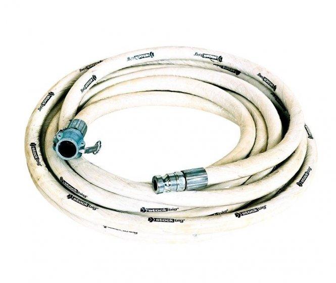 SEMPERIT Mörtelschlauch weiß >stockbig®, NW 25 mit drehbarer Kupplung