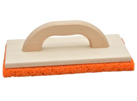 Holz-Reibebrett mit Schwammgummi-Belag grob
