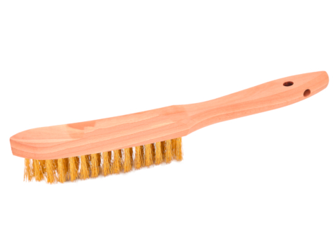 Messing Hand-Drahtbürste, 4-reihig gewellt
