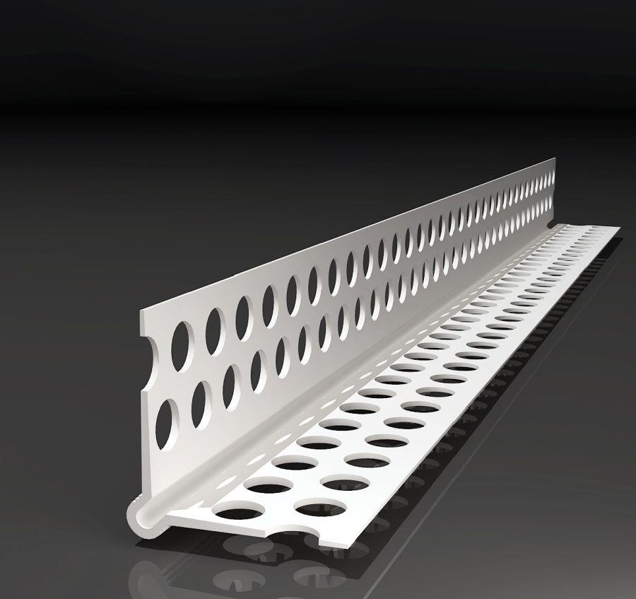 PVC-Eckwinkel / Trockenbauprofil 2,5 m lang