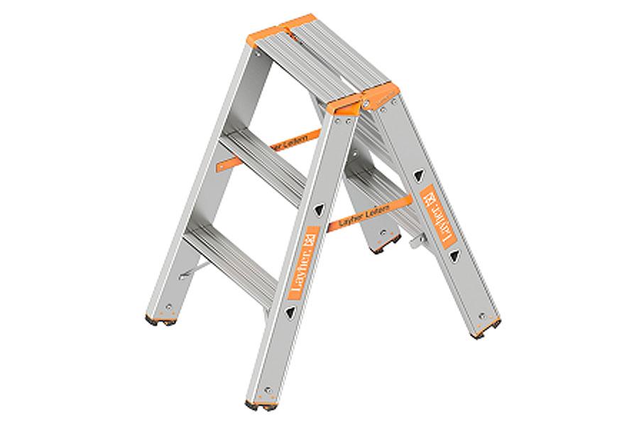Aluminium-Stufen-Stehleiter, verschiedene Ausführungen