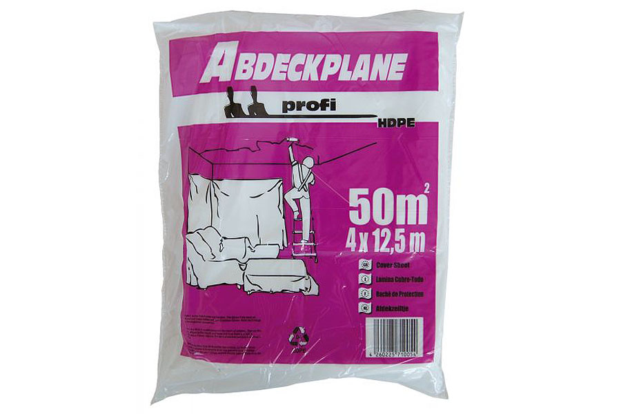 "HDPE-Abdeckplane ""profi"", 12 µm, transparent, diverse Ausführungen"
