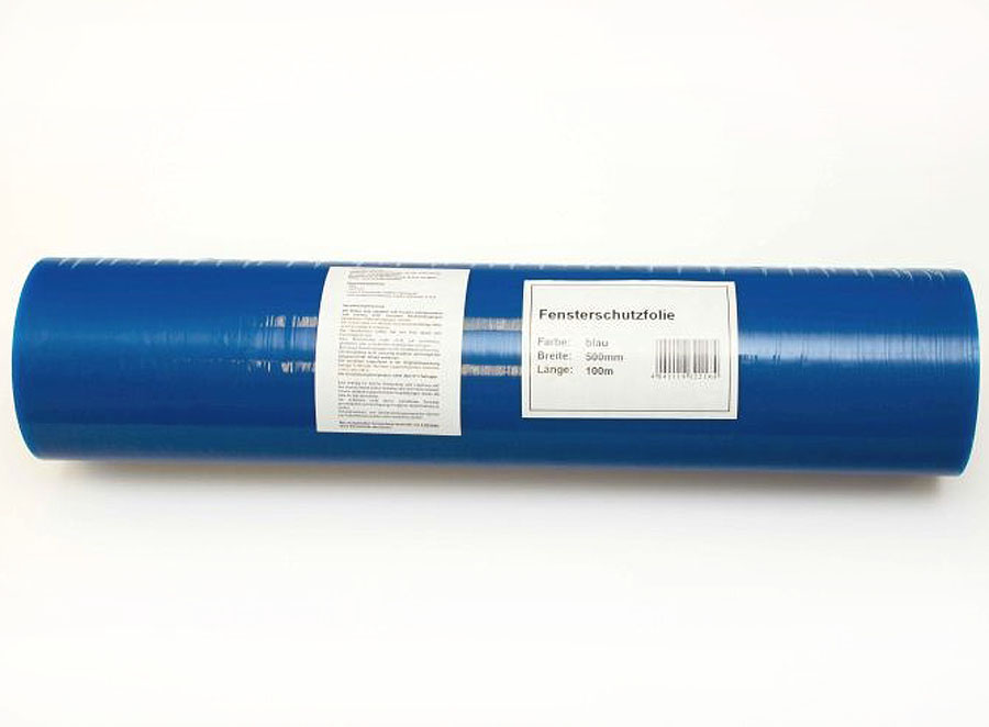 selbstklebende Schutzfolie / Glasschutzfolie blau