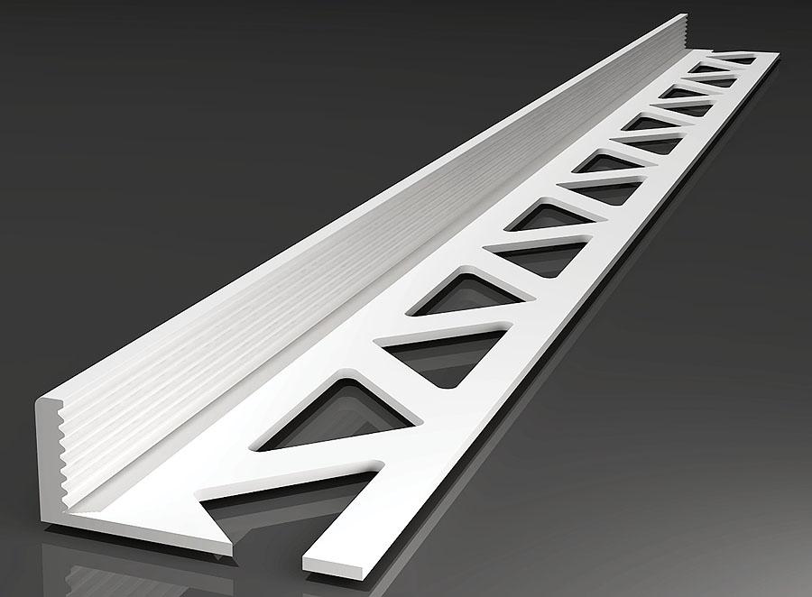 PVC-Abschlussprofil 2,5m in verschiedenen Varianten