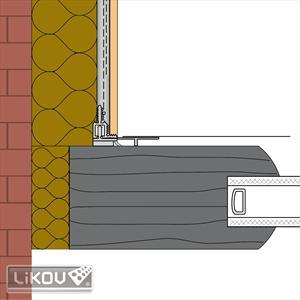 Anputzleiste LW30-PLUS  2 D, 9 mm, teleskopisch