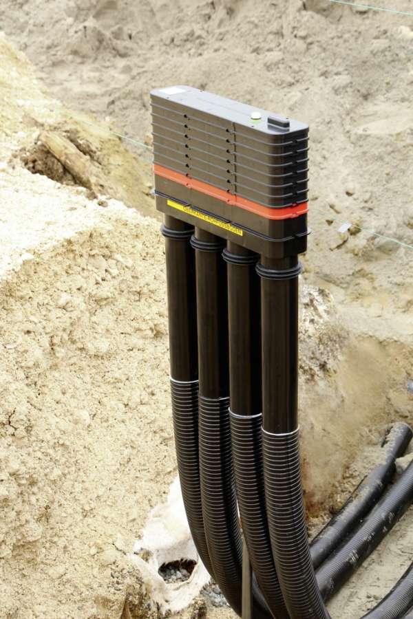 Hauff-Technik MSH Basic-FUBO-GK-SR4 (6 m) Mehrsparten-Bauherrenpaket - für Gebäude ohne Keller - REIHENANORDNUNG