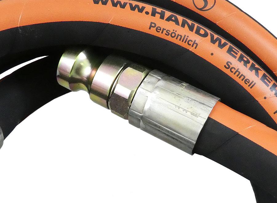 SEMPERIT Mörteldruckschlauch HW3000® schwarz LW 24 mit drehbarer Kupplung