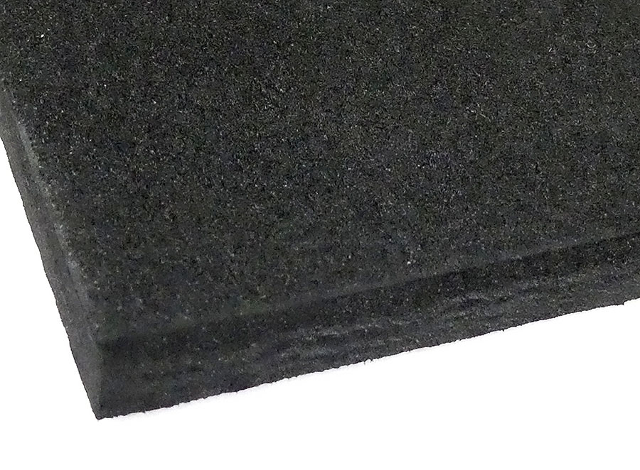Moosgummi-Ersatzbelag schwarz 280 x 140 x 8 mm