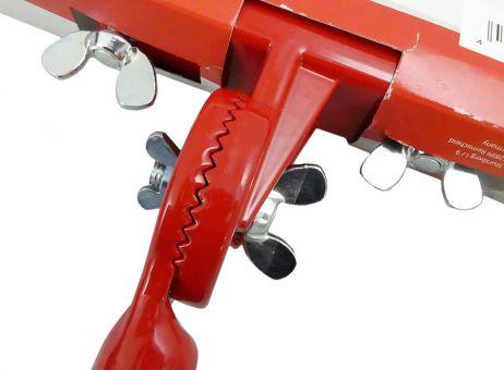 Werkzeughalter für Profikartätschen mit Gewinde, Zahnkranzverstellung und Klemmleiste