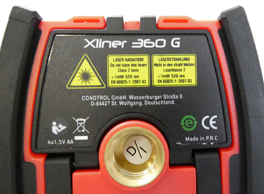 CONDTROL Kreuzlinienlaser Xliner 360G Punktlaser grün