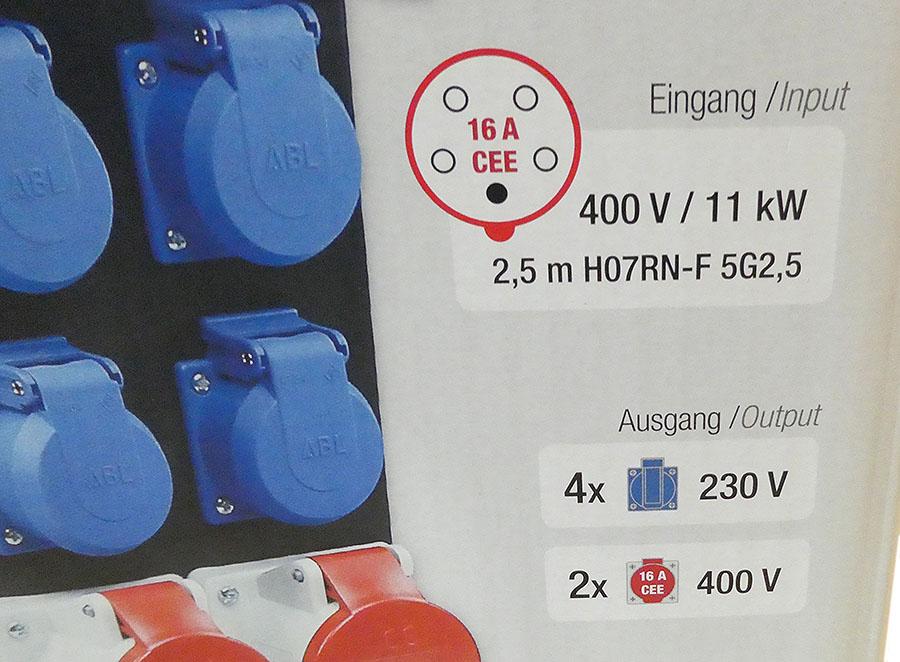 Stecky 11 Stromverteiler 400V 16A